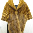 LADIES CLASSIC STUNNING WHISKEY MINK CAPE - 62486(o) SIZE F