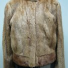 LADIES DYED WHISKEY US MINK BOLERO - 54760 (SIZE 14)
