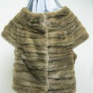 LADIES OLIVER GREEN HORIZONTAL MINK VEST - 64449(o) SIZE 14