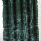 "MINK PLUCKED GREEN COL W/STRIPE PLATE-DRESSED REAL GENUINE SKIN (est 47"" X 20"")"