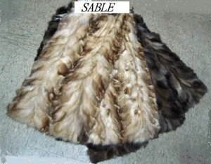 """SABLE SECTION (BLEACHED & NATURAL COL DRESSED SKIN PLATE(est 39"""" x 19"""")"""