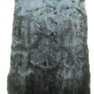 """MINK DYED BROWN PLUCKED DRESSED REAL GENUINE FUR SKIN PLATE (est size44"""" X 22"""")"""