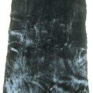 "MINK DYED BLACK PLUCKED DRESSED REAL GENUINE FUR SKIN PLATE(est size 40"" X 21"")"