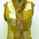 LADIES BROWN REX WITH FOIL PRINTED VEST(SZ F=S)HH-36
