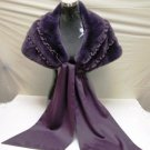 LADIES PURPLE CUTE PLUCKED MINK CAPE - PRD060731 (sz F)