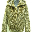 LADIES PRINTED BROWN REX HOODIE JACKET (HH52) SIZE F=M