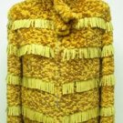 LADIES DYED YELLOW REX KNITTED JACKET (HH08) SZ F = S