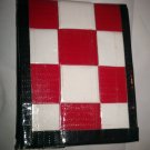 Red N White Woven Duct Tape Bi-fold