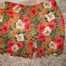 Womens Jones NY Linen Cotton Floral Shorts New 6 S