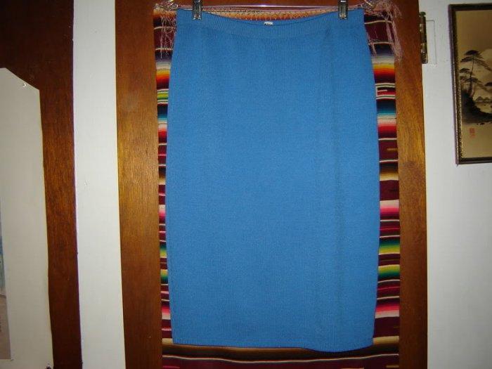 Santana Knit Blue Skirt 10 M