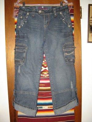 Candies Denim Embellished Distressed Cropped Jeans 7