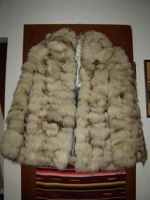 Womens Fluffy Fox Fur Jacket S M