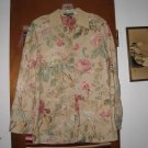 Womens Ralph Lauren Floral Roses Linen Cotton Coat S