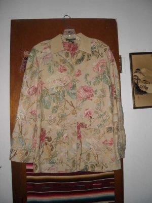 Womens Ralph Lauren Floral Roses Linen Cotton Coat S