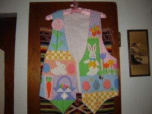 Womens Handcrafted Cotton Embellished Easter Vest M L