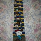 Mens Peanuts Snoopy Beagle at Bat Silk Tie