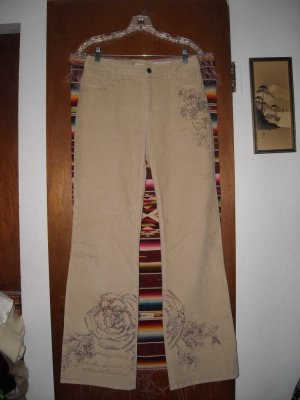 Womens J Jill Corduroy Stretch Jeans 6 Embellished
