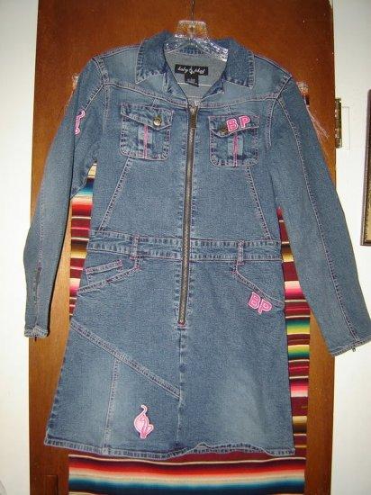 Baby Phat Girlz Jean Denim Dress L