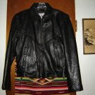 Womens Vanguard Leather Black Biker Motorcycle Jacket M
