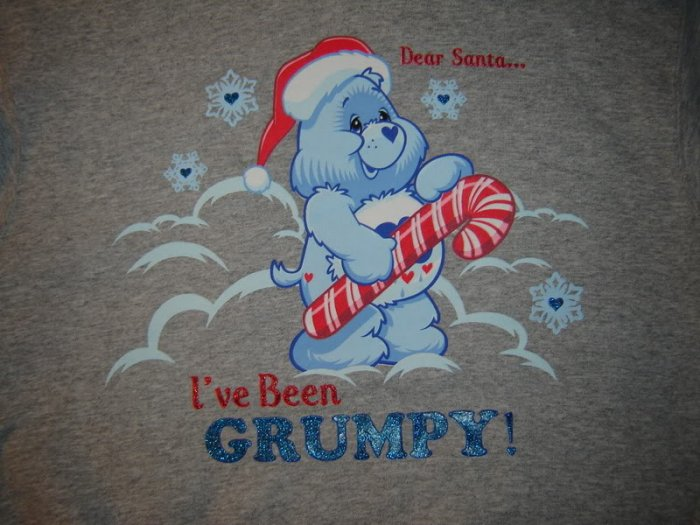Womens Grumpy Care Bears Christmas Sweatshirt M