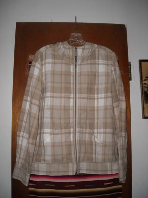 Womens Eddie Bauer Linen Hooded Jacket M