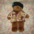 Build A Bear Teddy Military Camouflage Jacket Beret