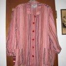Womens Striped Flax Linen Jacket 1G