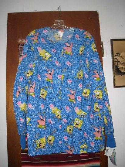 Womens SpongeBob Nickleodeon Cherokee Uniform Top M