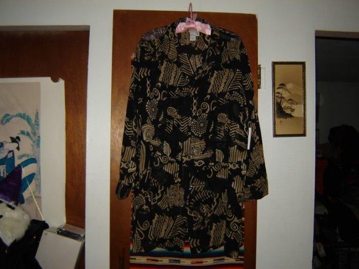 Womens Coldwater Creek Long Sheer Shirt Overblouse 1X