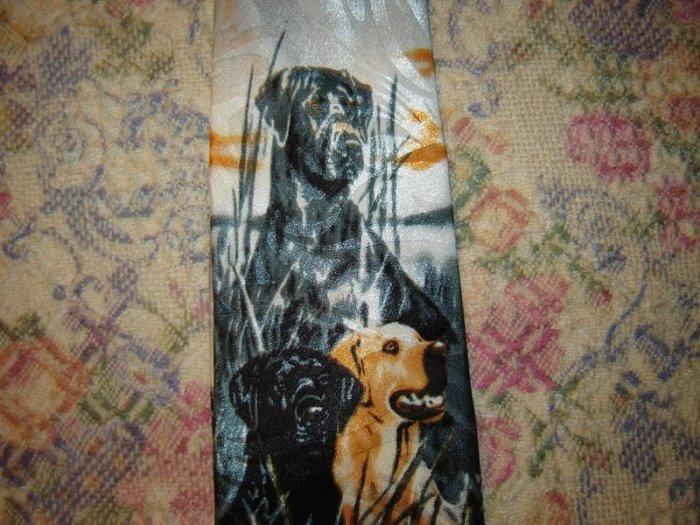 Mens Dog Theme Tie Necktie Unworn