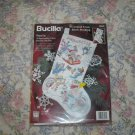 Bucilla Winter Fun Christmas Stocking Cross Stitch Kit