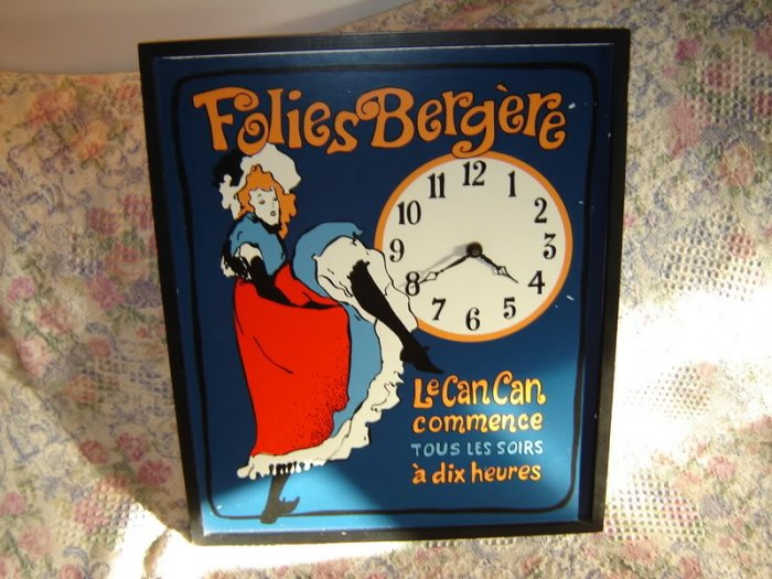 Can-Can Dancer Jane Avril Folies Berger Wall Clock