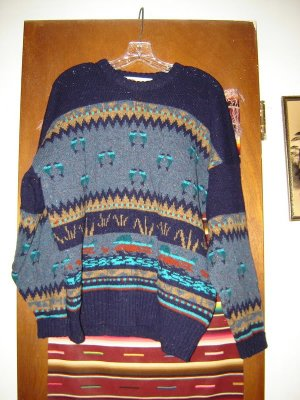 Mens The Clever Sheperd Wool Duck Mallard Sweater L