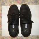 Womens Wolverine Black Leather Work Shoes 9 Steel Toe