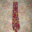 Mens Sulka Tie Silk Hand Painted Mushroom Necktie