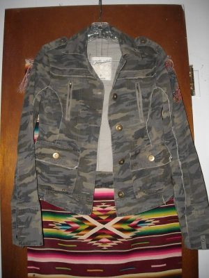 Aeropostale Camouflage Jacket S Sleeve Embroidery