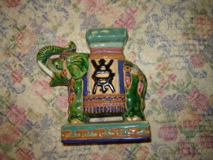Colorful Charming Pottery Elephant