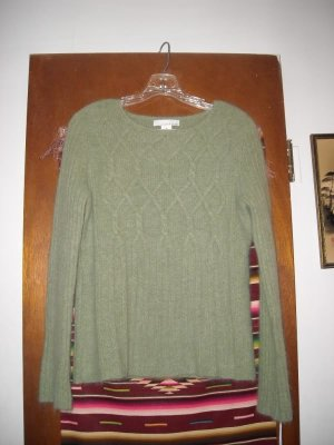 Womens Lucy & Laurel Green Angora Blend Sweater M