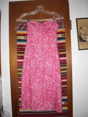 Milly of New York Pink Strapless Sundress 2 Necktie