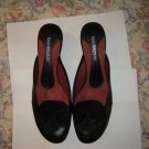 Enzo Angiolini Black Tassel Open Back Shoes Slides 7.5