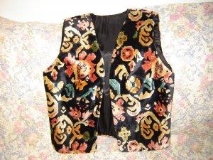 Womens Carpet Tapestry Fabric Boutique Vest S M