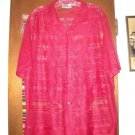 Mens Red Dragon Asian Mesh Shirt M Medium