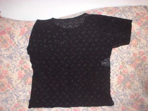 Womens Black Lace Lingerie Top Shirt L New NWOT