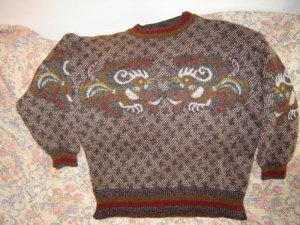 Womens Bogner Rooster Wool Mohair Sweater XL 14 Unworn