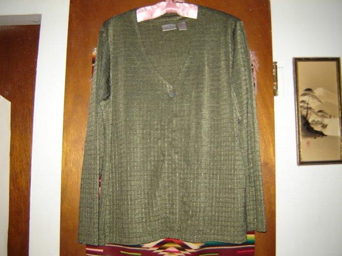 Chicos Chico�s Slinky Green Cardigan Light Jacket 2 M