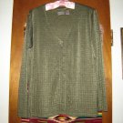 Chicos Chico's Slinky Green Cardigan Light Jacket 2 M