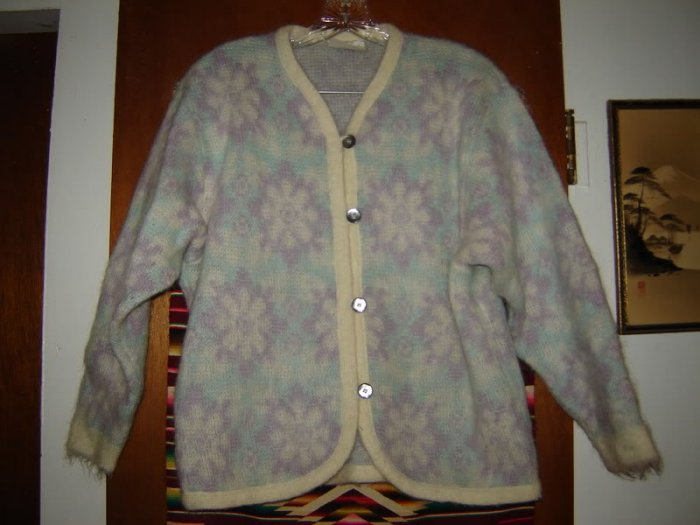 Womens Alafoss of Iceland Mohair Wool Sweater Jacket S