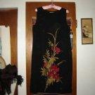 Kasper ASL Black Sleeveless Orchid Floral Dress 12
