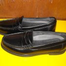Mens Rockport Vibram Black Leather Loafers Shoes 7.5