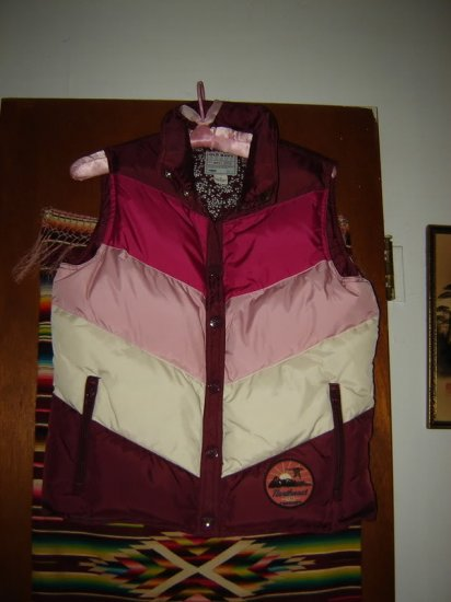 Womens Old Navy Down Vest M Northeast 23 Vermont Patch